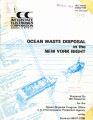 Ocean waste disposal in the New York Bight
