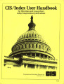CIS-Index User Handbook for Librarians and Researchers using Congressional Publications