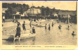 Bathing beach at town park, Huntington Harbor, L. I.