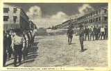 Barracks and recruits drilling, Camp Upton,     L. I., N. Y.