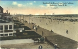 Boardwalk & beach, from Curley's Hotel, Rockaway Park, N. Y.