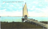 Arrival of the Ice Boat, Oak Beach, N. Y.