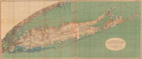 Topographic Map of Long Island, New York